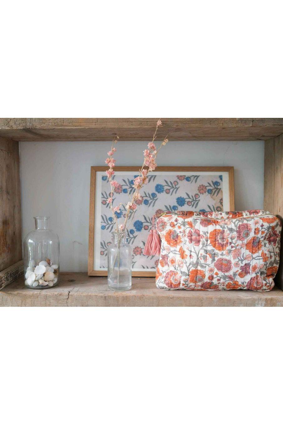 pochette maison marya cream bohemian flowers - louise misha
