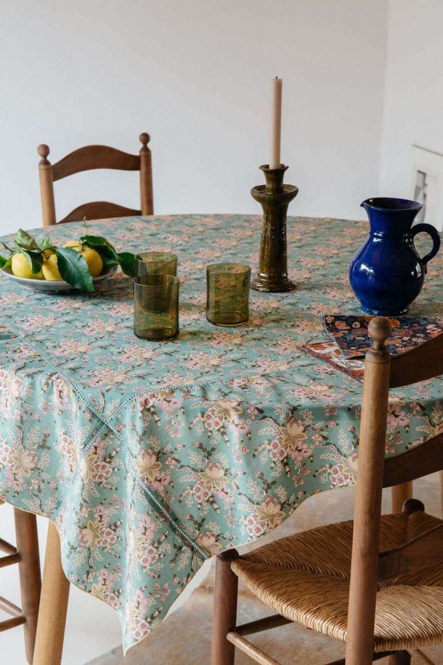 nappe maison carla blue french flowers - louise misha