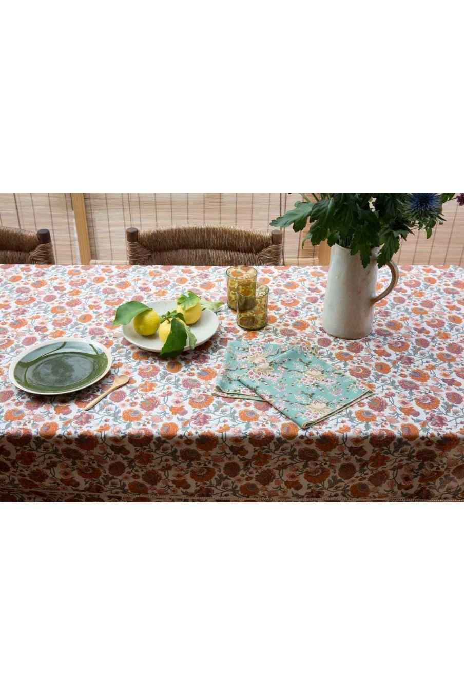serviette de table maison carlotta blue french flowers - louise misha