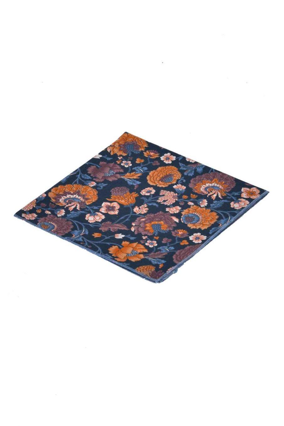 serviette de table maison carlotta charcoal bohemian flowers - louise misha