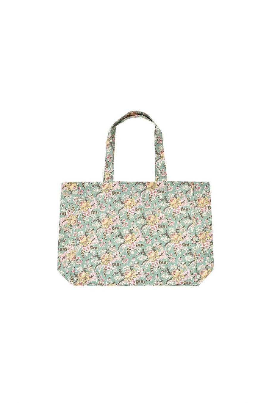 tote bag maison beverly blue french flowers - louise misha