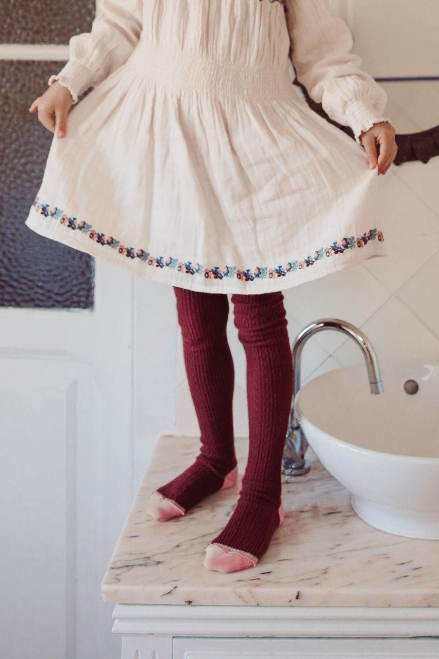 collants fille chukata burgundy - louise misha