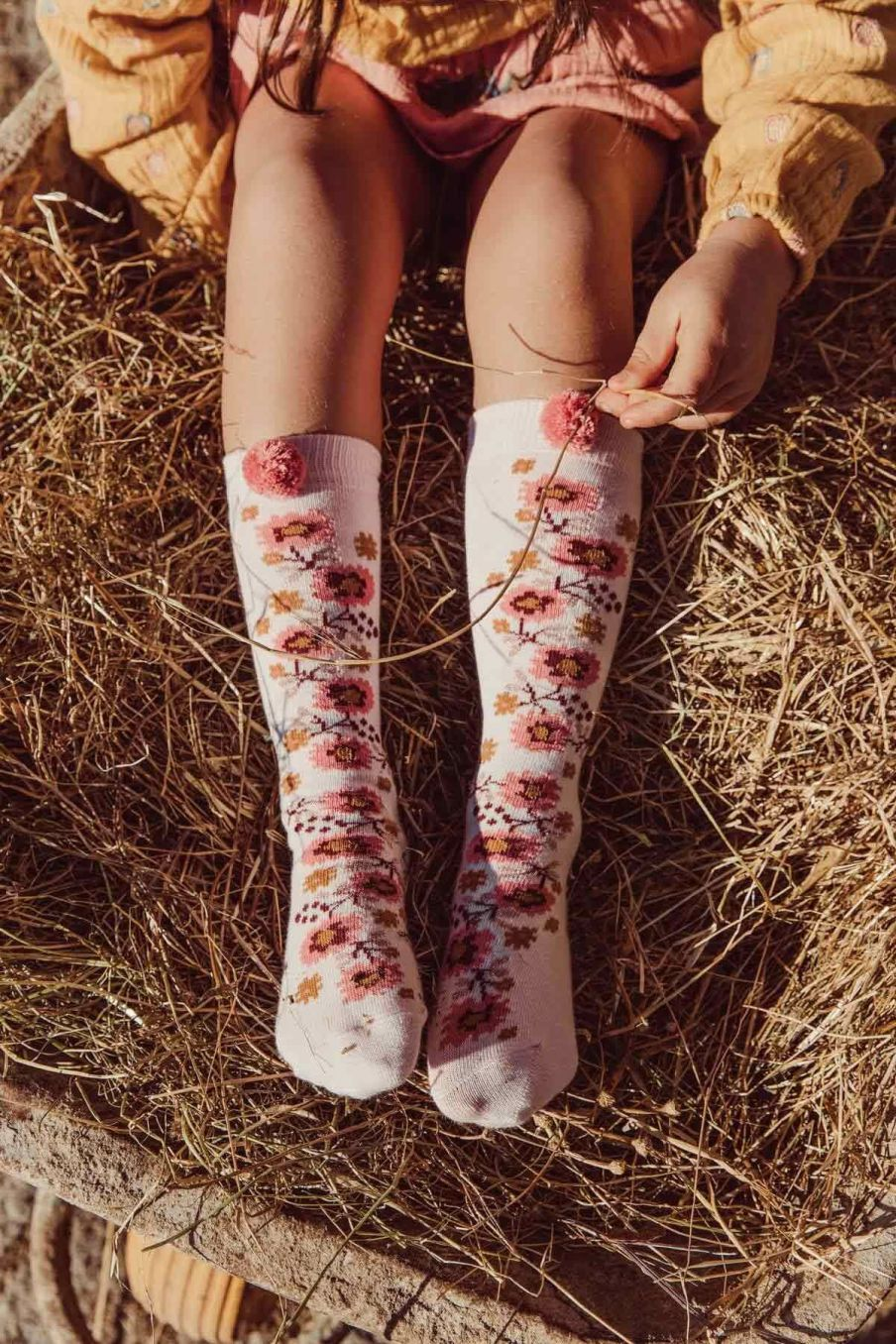 chaussettes fille chelie blush - louise misha