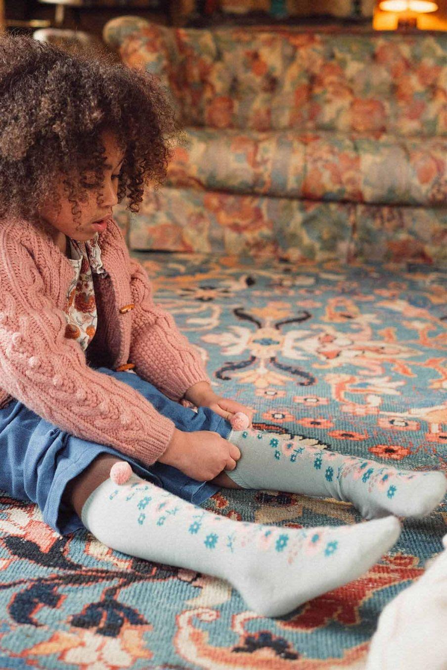 chaussettes fille chelie sauge - louise misha