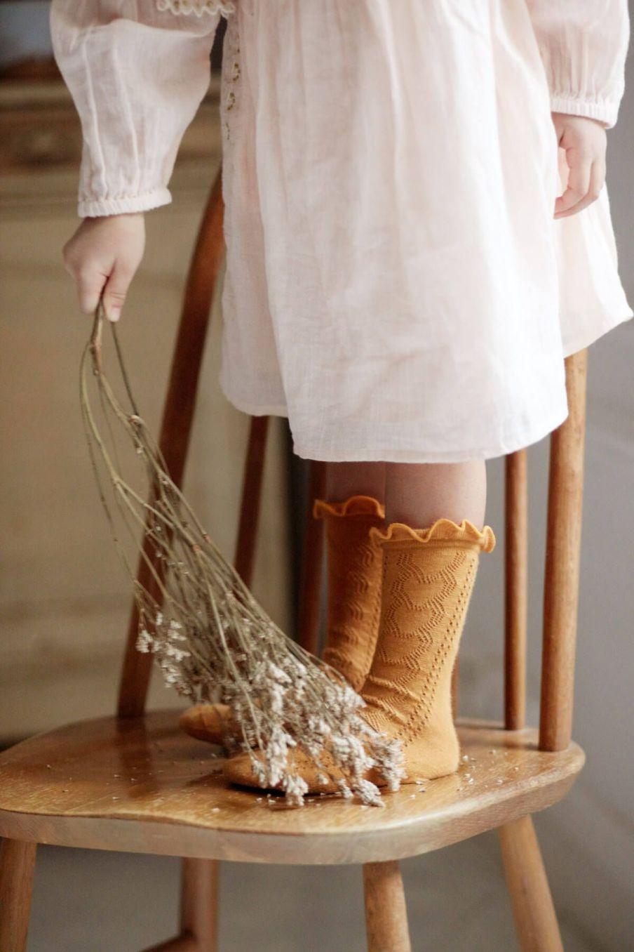 chaussettes fille chilou mustard - louise misha