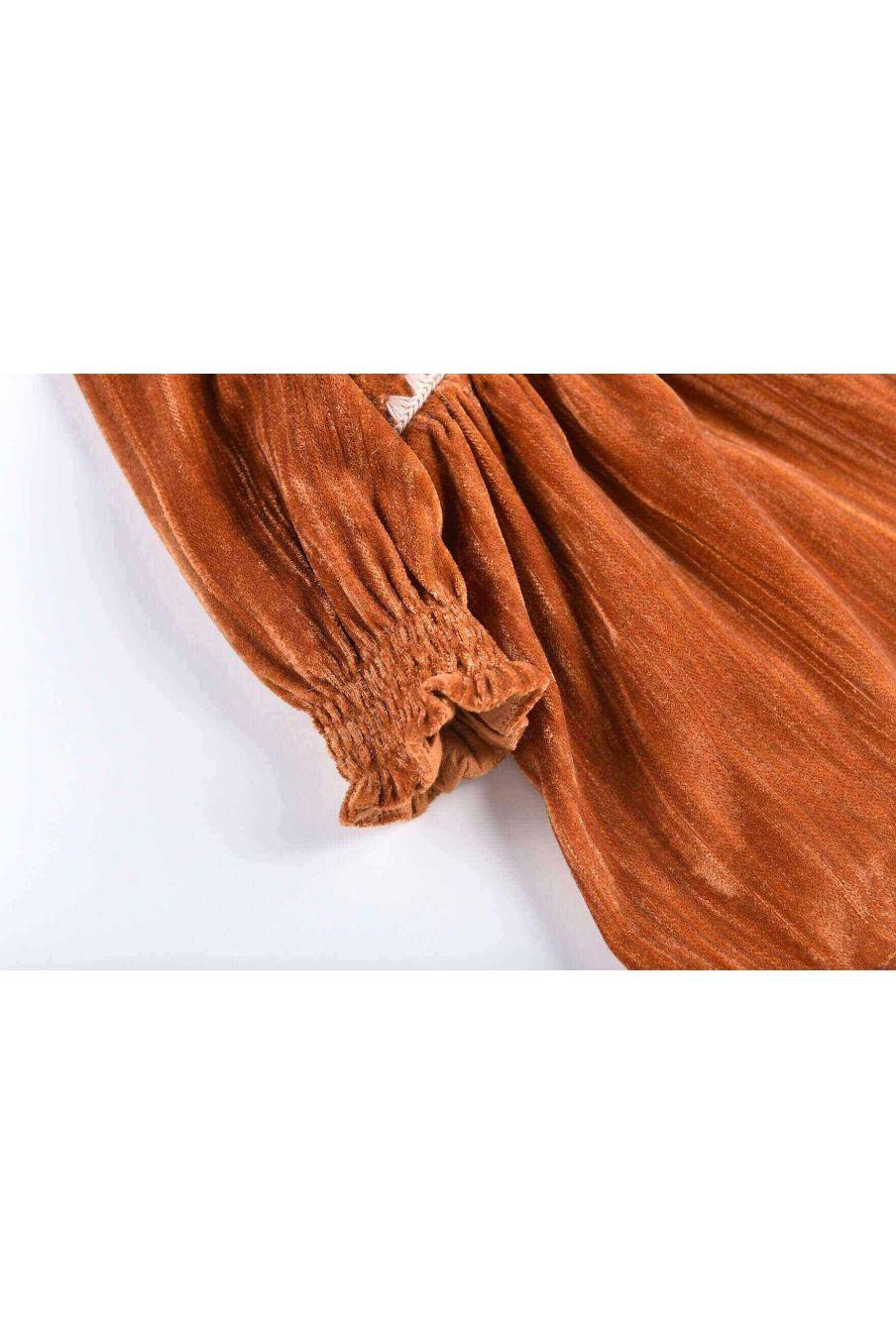 robe fille josette caramel - louise misha