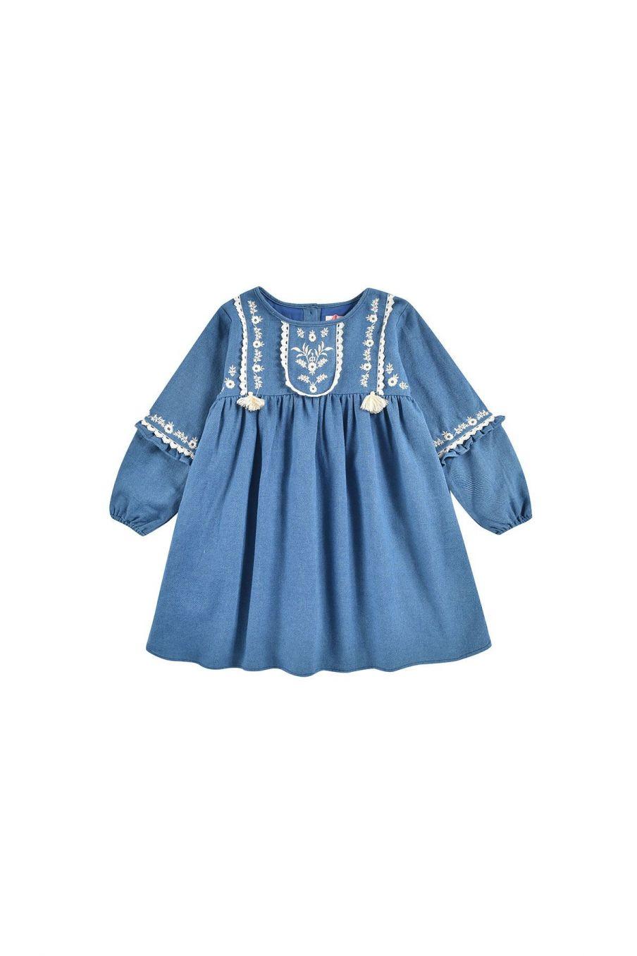 robe fille fajald blue denim - louise misha
