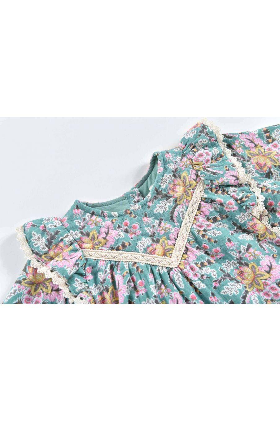robe fille lara blue french flowers - louise misha