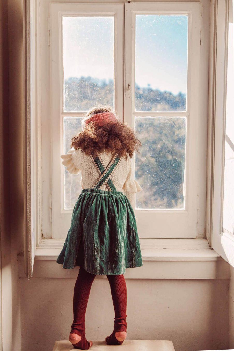 robe fille ginette sauge - louise misha