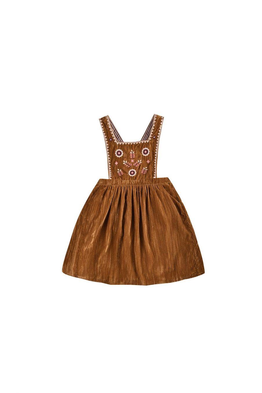 robe fille ginette caramel - louise misha