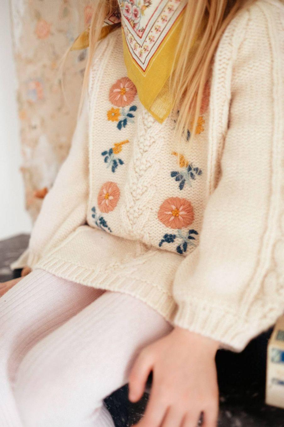 robe fille rejana cream - louise misha