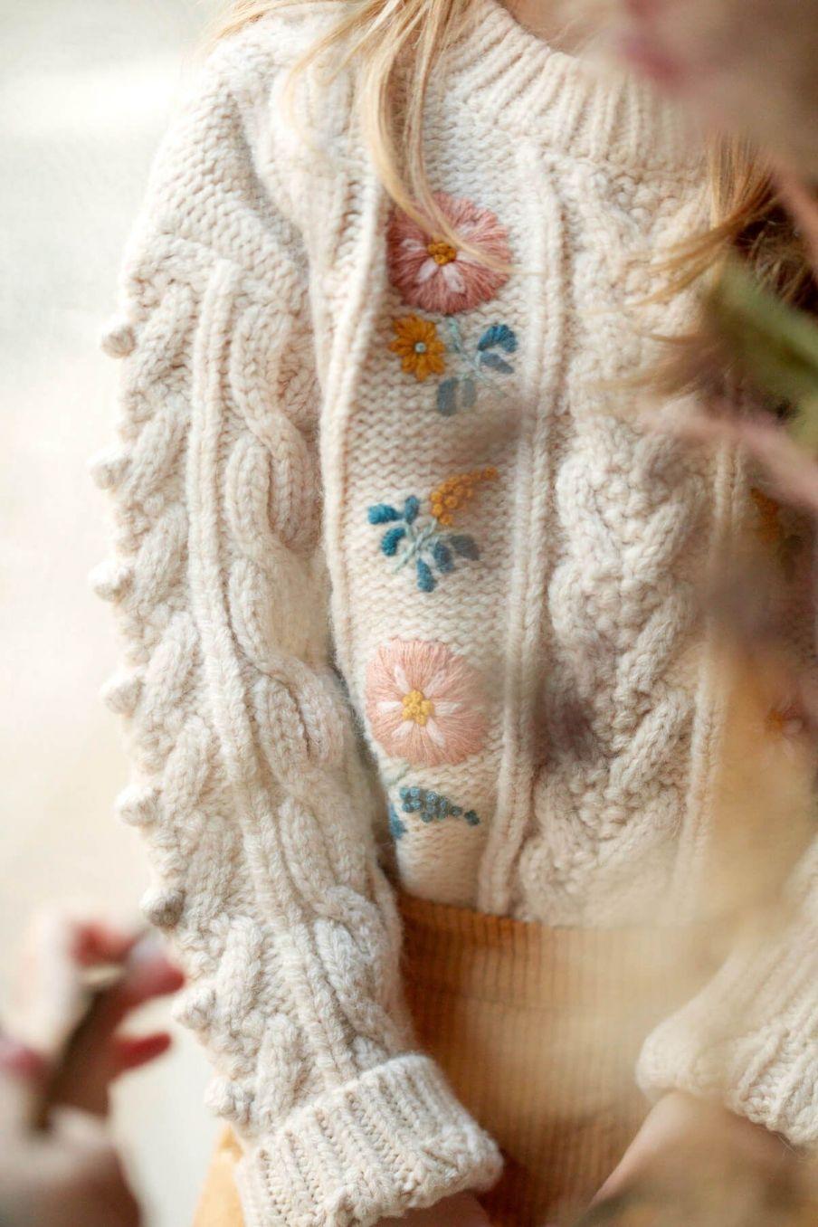 pull fille georgette cream - louise misha