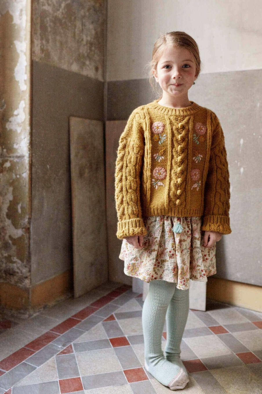 pull fille georgette camel - louise misha
