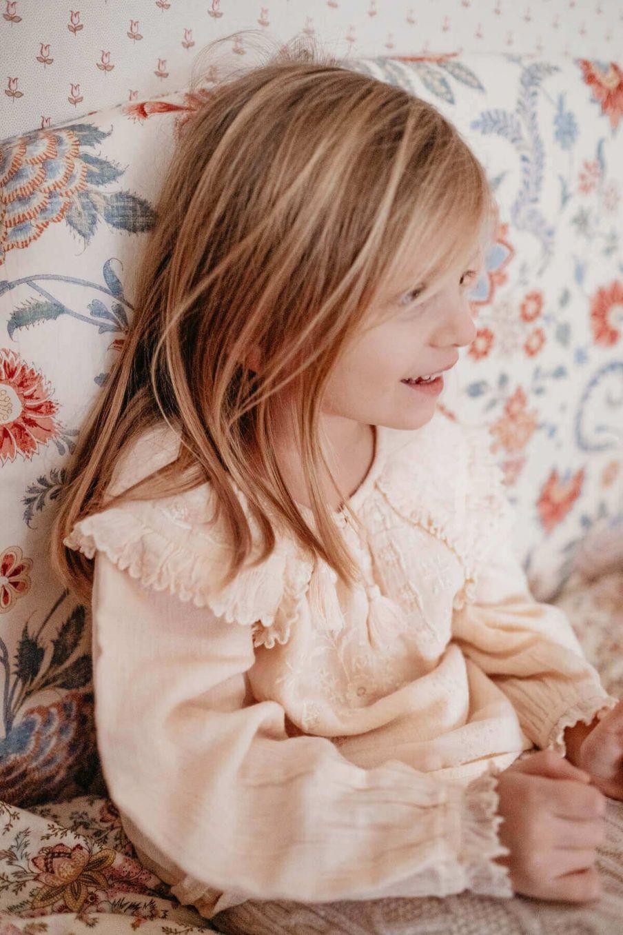 blouse fille iris blush - louise misha