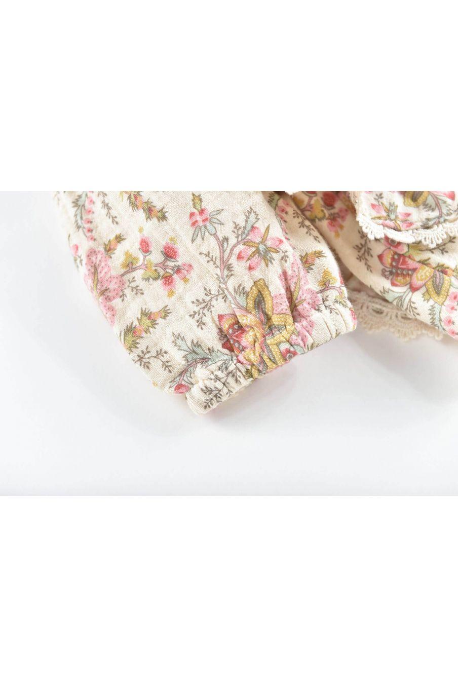 blouse fille celia cream french flowers - louise misha