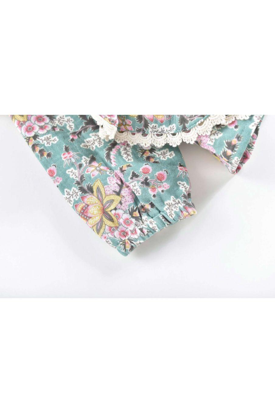 blouse fille celia blue french flowers - louise misha
