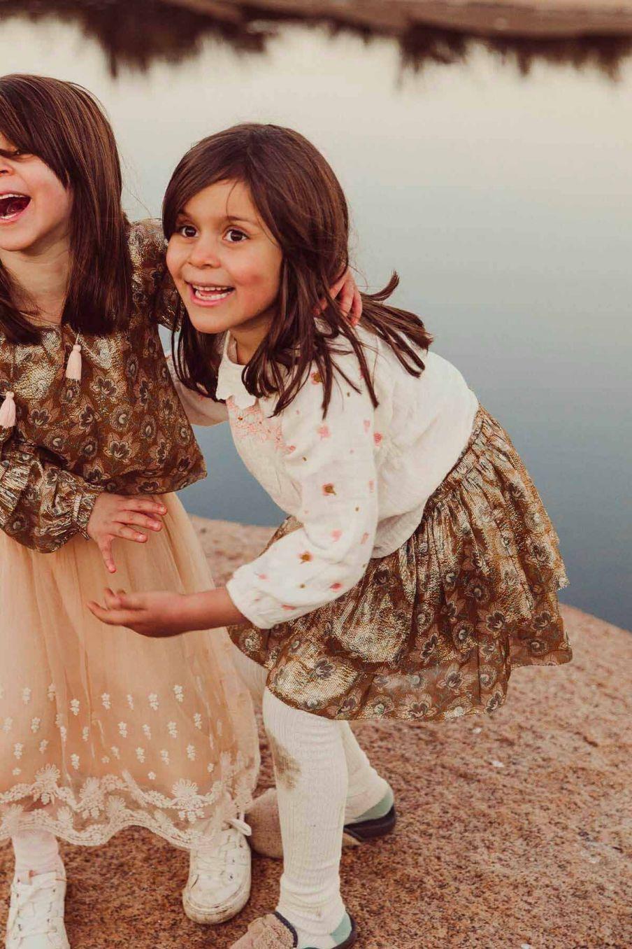 blouse fille daphne off-white - louise misha