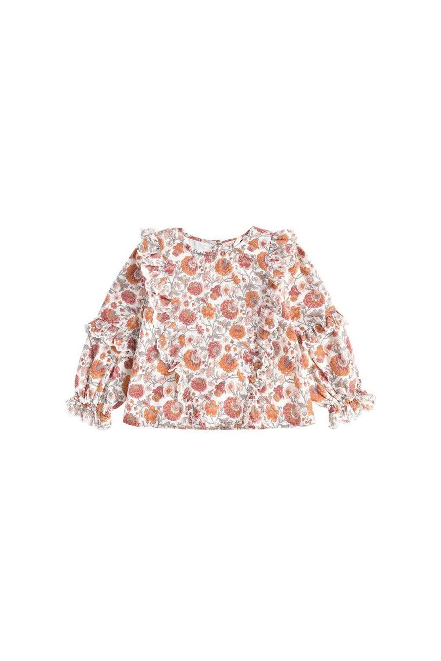 blouse fille tubi cream bohemian flowers - louise misha