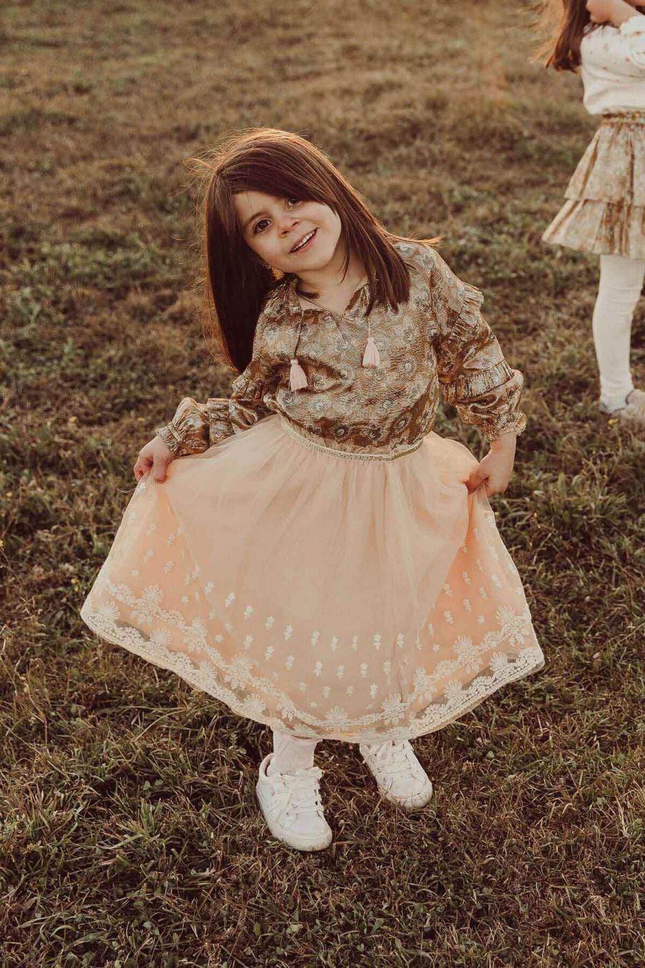 jupe fille melania blush - louise misha