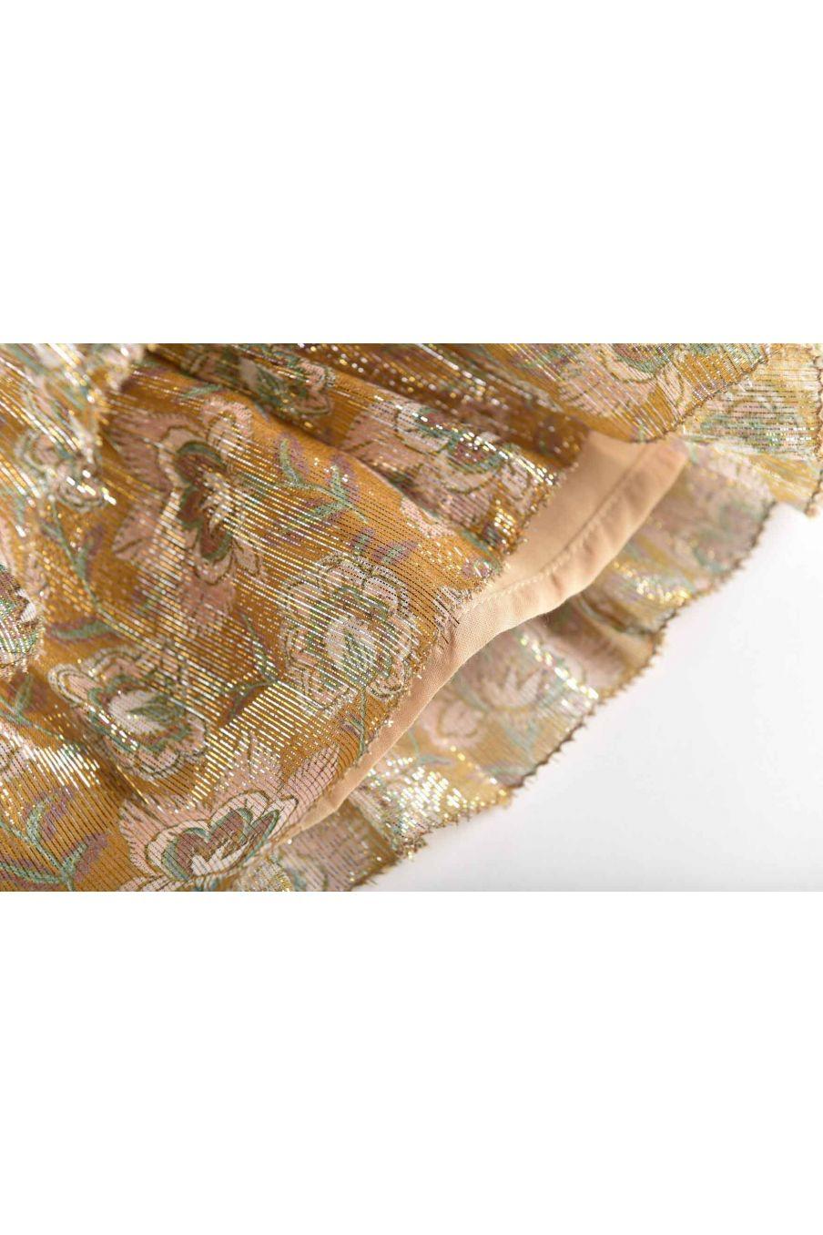 jupe fille carole saffron lurex flowers - louise misha