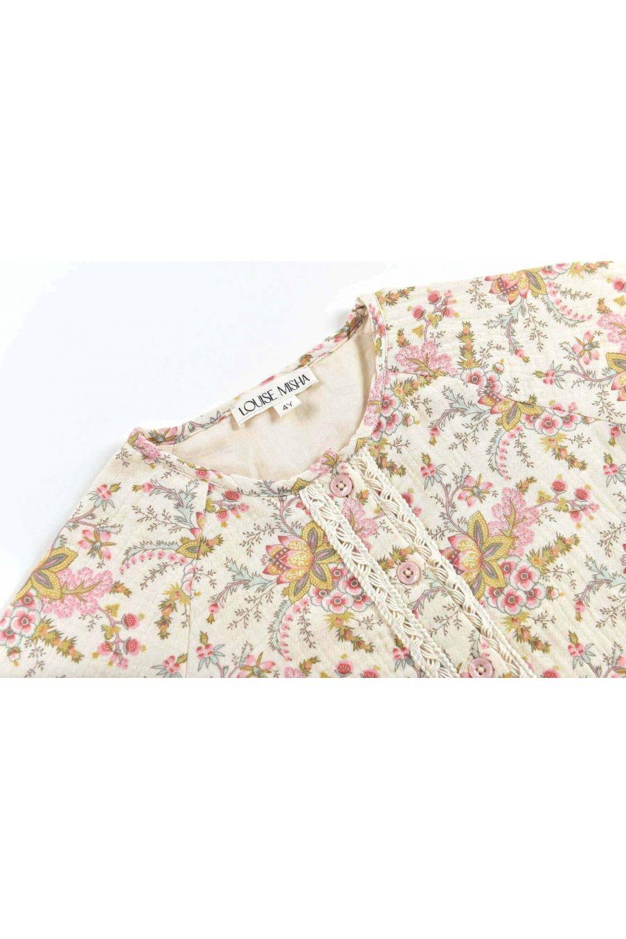 combinaison fille jenna cream french flowers - louise misha