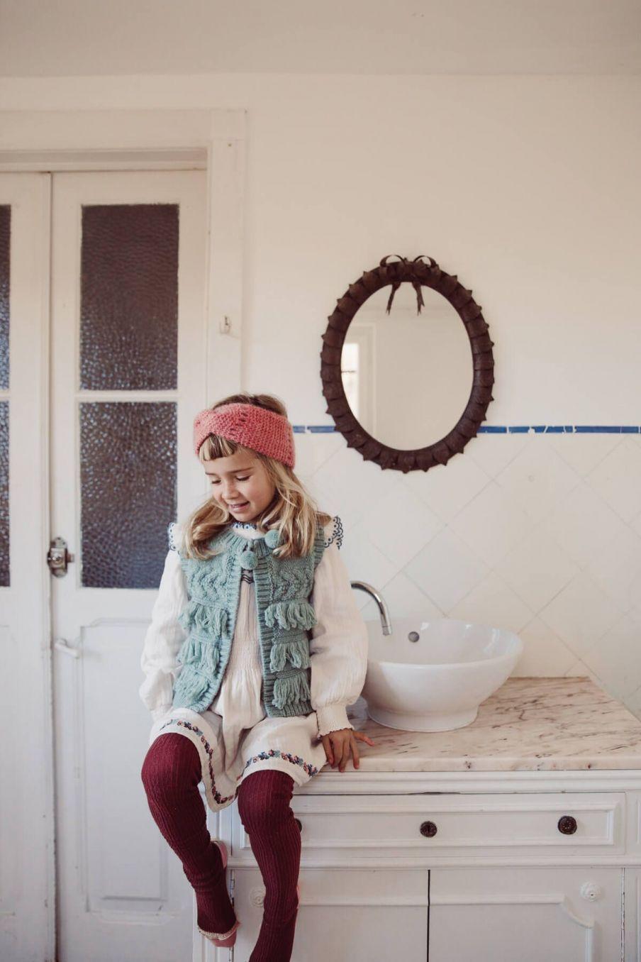 veste fille sylvania sauge - louise misha