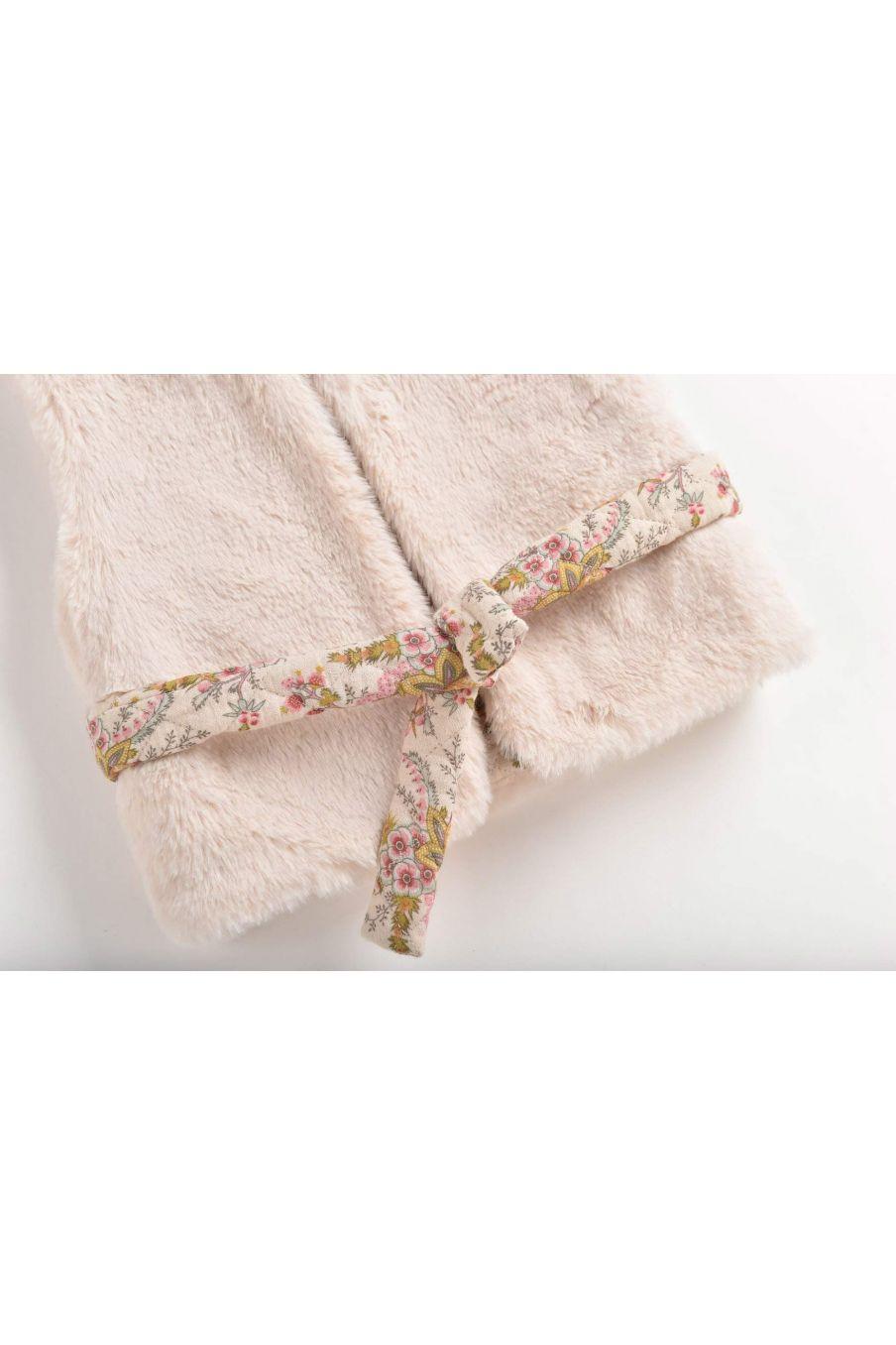 veste réversible fille eva cream - cream french flowers - louise misha