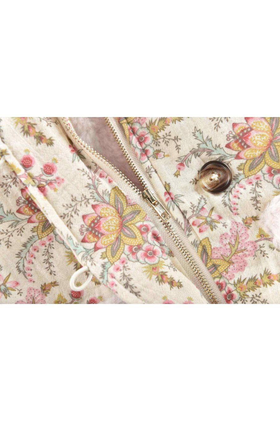 manteau fille bacani cream french flowers - louise misha