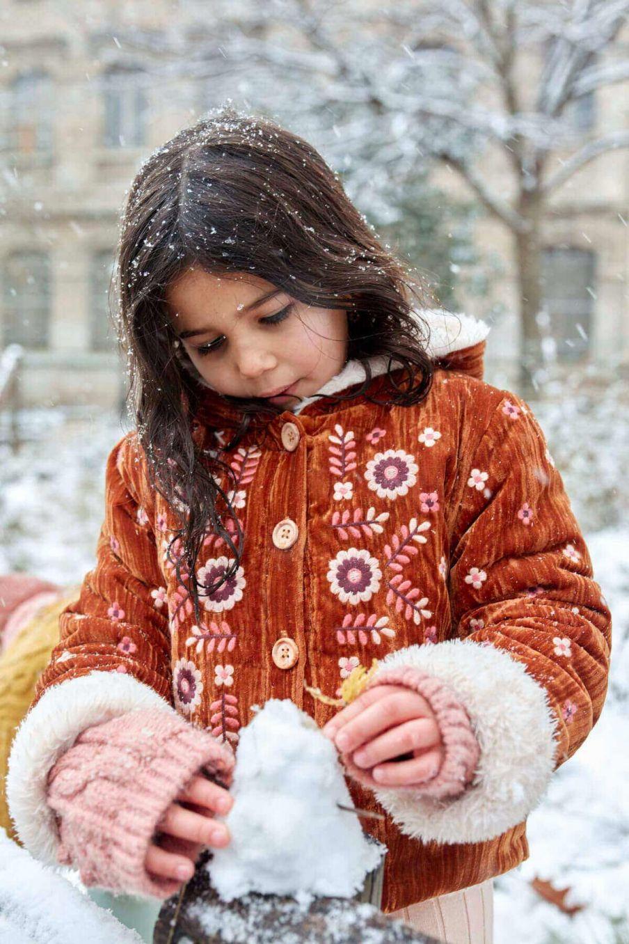veste fille nalidee caramel - louise misha