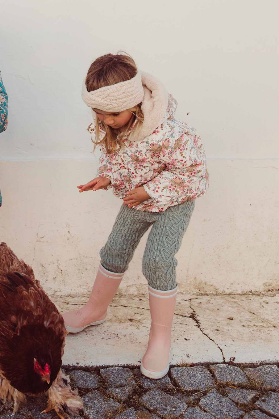 doudoune fille edalise cream french flowers - louise misha