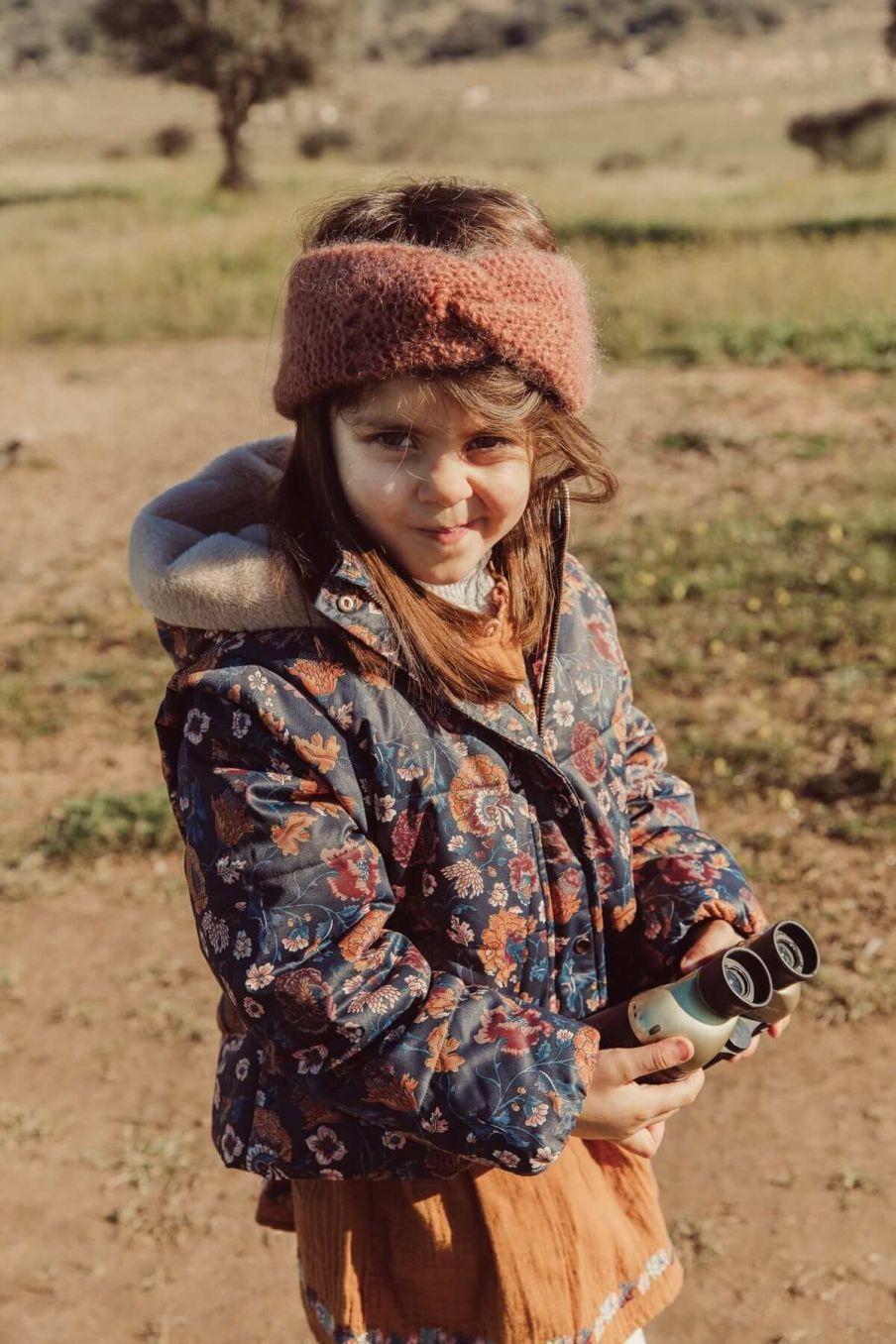 doudoune fille edalise charcoal bohemian flowers - louise misha