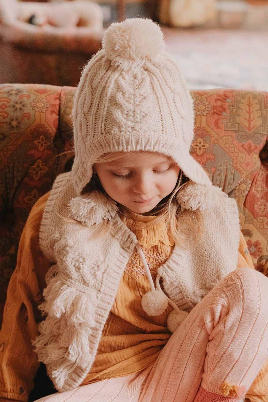 bonnet fille isoline cream - louise misha