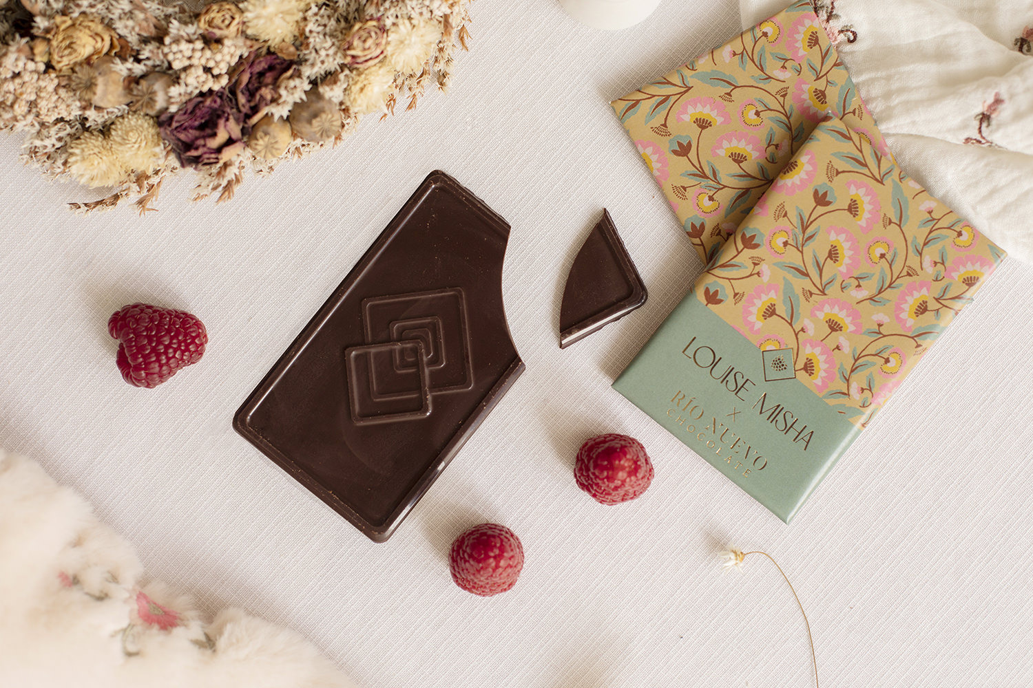 Our chocolate bars in collaboration with Rio Nuevo